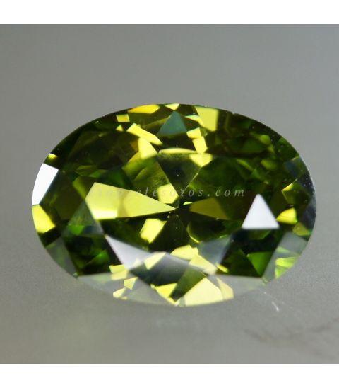 Circonita verde de calidad suprema AAA, simil de peridoto