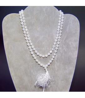 Mala o rosario oriental de esferas de Piedra luna