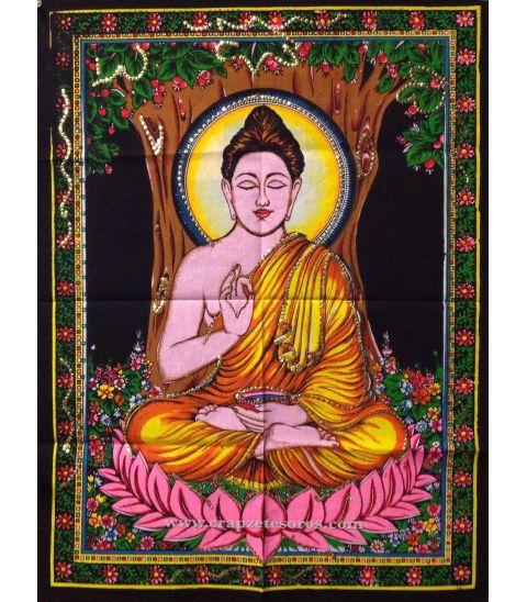 Hermoso Buda meditación sobre tapiz