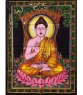 Hermoso Buda meditación sobre tapiz 55x75 cm