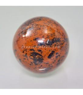 Esfera Obsidiana caoba