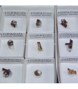 Topacio Cristal en cajita para coleccion