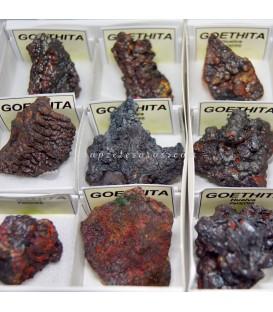 Gohetita irisada de Huelva en cajíta de colección de 4x4 cm.