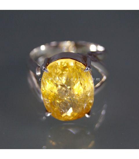 Excelente Topacio Imperial de Brasil en anillo exclusivo de plata de ley