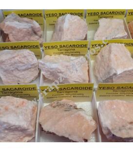 Yeso sacaroide de Tarragona en cajita de coleccion