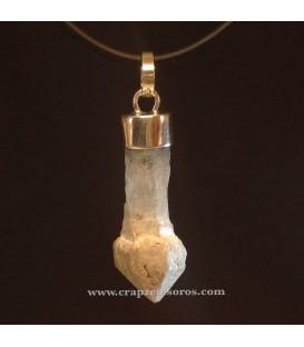 Colgante de cuarzo cetro en plata de ley