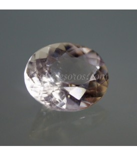 Morganiíta de Brasil en exclusivo anillo de plata de ley