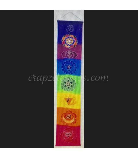 Bandera vertical de los Chakras con sus mandalas