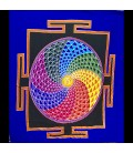 Bandera con el mandala OM y los chakras helicoidales