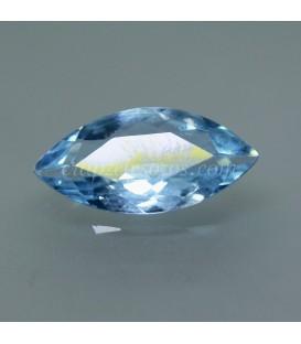 Topacio azul gema talla oval de Afganistán