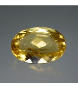 Heliodoro, piedra del Sol en gema talla oval de Brasil