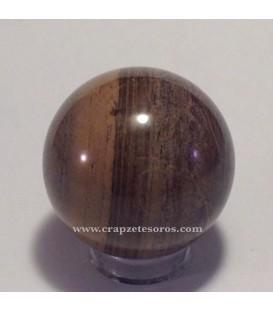 Esfera de Xilópalo (árbol fósil) con peana