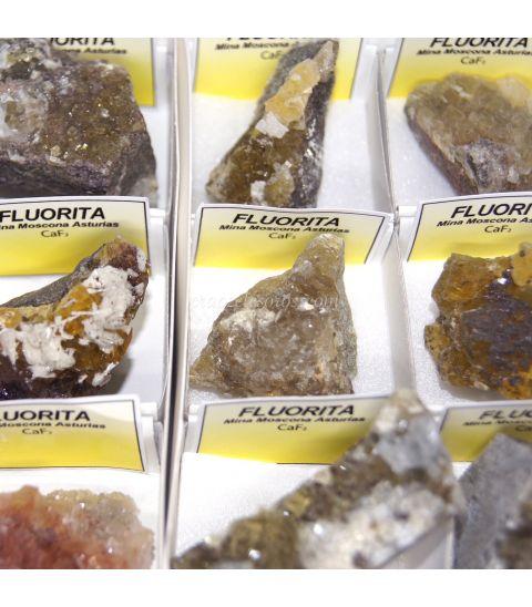 Fluorita amarilla cristalizada