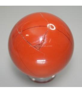 Jaspe rojo natural tallada en forma de esfera
