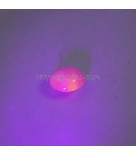 Hackmanita o sodalita rosa talla cabujon de 9 mm