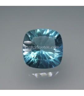 Gema desnuda de Fluorita azul talla oval