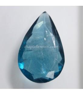Espectacular Fluorita azul talla gota de Brasil
