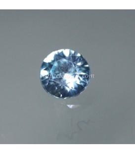 Circón azul natural de 5 mm