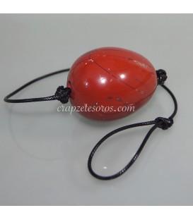 Jaspe Rojo talla huevo masaje vaginal con cordón