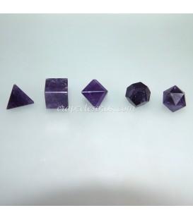 Conjunto de Formas o poliedros platónicos de Amatista