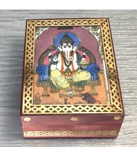 Ganesha en Caja artesanal de madera de India