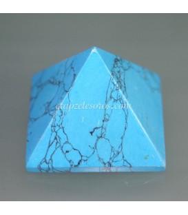 Pirámide de Howlita azul