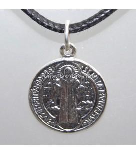 Medalla de San Benito en plata de ley