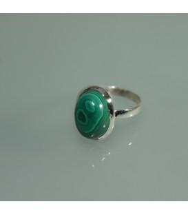 Impresioante anillo de Malaquita en plata de ley