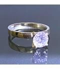 Circonita de calidad extra cinco A en anillo de plata de ley