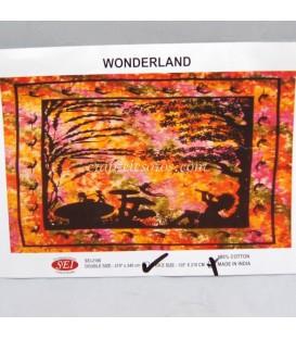 Tapiz Wonder Land de algodón de la India