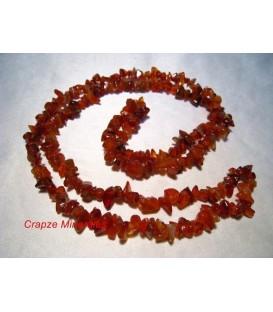 Cornalina o Carneola chip en collar
