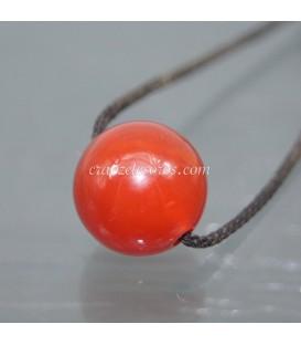 Esfera de Carneola perforada para colgar