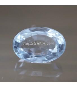 Topacio azul gema de Brasil talla cojín