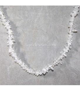 Collar Cuarzo Cristal de roca chip