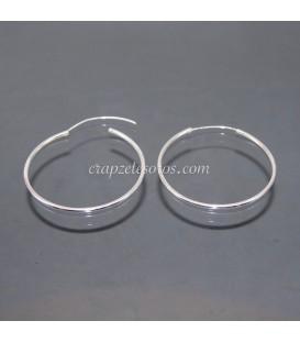 Pendientes de aro 50 mm de plata de ley