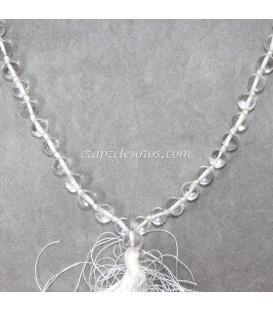 Mala o rosario oriental de esferas de Labradoritas y Cuarzos
