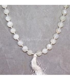 Mala o rosario oriental con esferas 8 mm de Piedra Luna