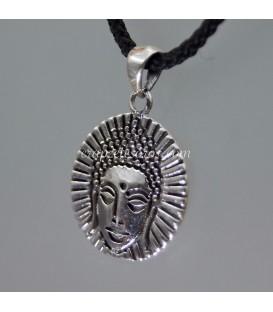 Rostro de Buda en colgante de plata de ley
