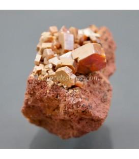 Vanadinitas cristalizadas de Marruecos