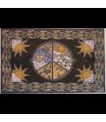 Símbolo de la Paz estampado en tapiz de algodón de la India.