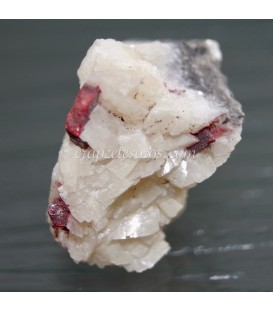 Cinabrio cristalizado en matriz de China