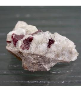 Cinabrio cristal sobre Barita