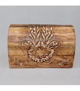 Jaspes sobre Conjunto de 3 cofres de madera de la India