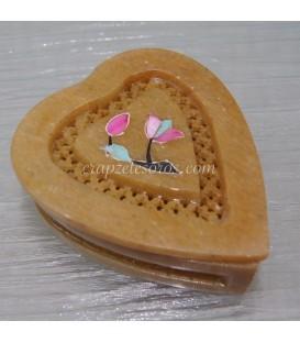 Hada tallada en caja piedra jabón de India