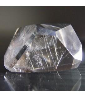 Cuarzo hialino Rutilo en talla poliedro irregular