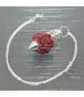 Pendulo con semilla sagrada hindu Rudraksha