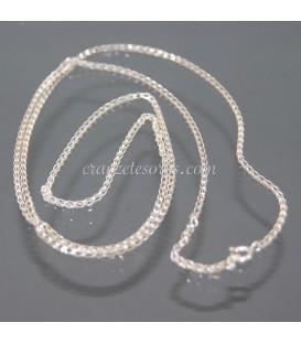 Cadena de anillitas de plata de ley
