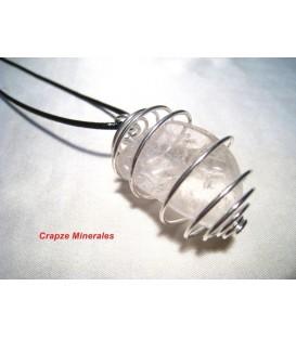 Colgante Cuarzo Cristal de roca en espiral