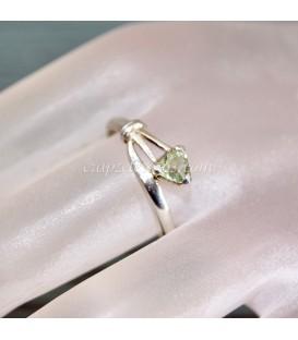 Turmalinas rosa o Rubelita y Verdelita en anillo exclusivo de plata de ley