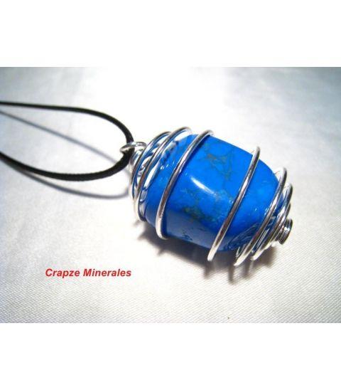 Colgante Howlita azul en espiral